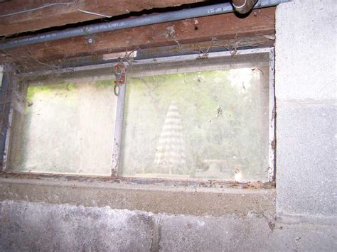 basement window metal frame