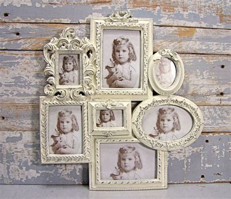 collage frame large white wedding frame shabby cottage chic wall decor french country decor