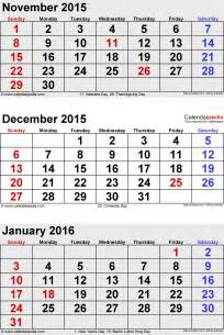 January 2014 Calendar Template by Dec Jan Calender 2015 2016 Calendar Template 2016