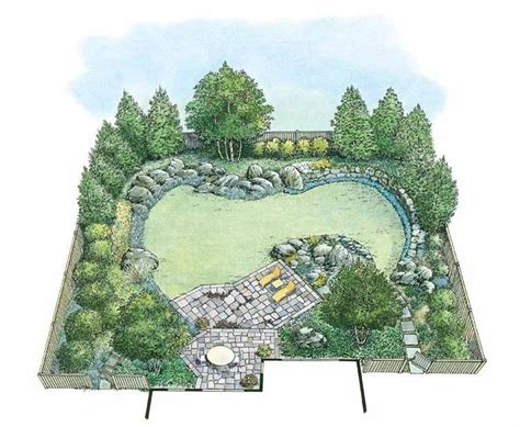 backyard plans designs best 25 landscape plans ideas on landscaping