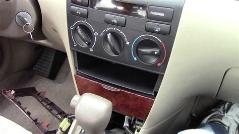 auto air conditioning repair 2003 toyota highlander security system toyota corolla ac dash removal 2002 2008 youtube
