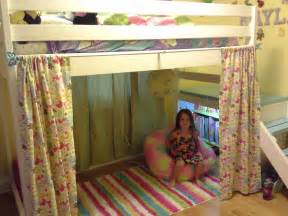 Loft Bed Curtains White C Loft Bed With Added Book Shelf And