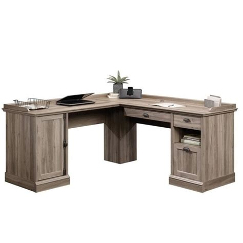 oak l shaped desk l shaped desk in salt oak 418270