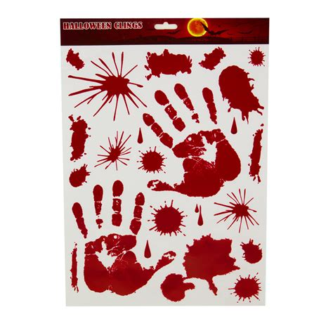 printable vinyl clings ifavor123 com red graphic hand print bloody paint drip