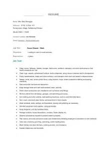Resume Job Description For Housekeeping by Housekeeper Resume Example Best Business Template