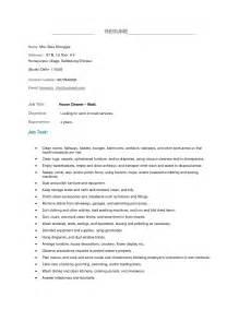 Housekeeping Attendant Sle Resume by Housekeeper Resume Exle Best Business Template