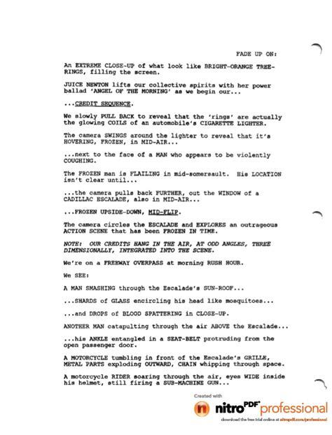 biography movie script deadpool movie leaked script 1