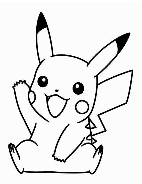 pikachu face coloring pages 20 best free pikachu outline home of coloring