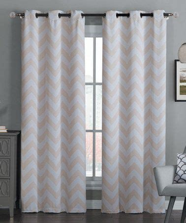 Taupe Chevron Curtains Another Great Find On Zulily Taupe Chevron Blackout Curtain Panel Set Of Two Zulilyfinds