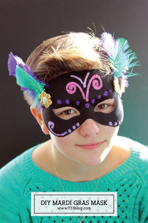 How To Make A Mardi Gras Mask Out Of Paper - diy mardi gras mask craft inspiration made simple