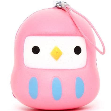 modes 4 u squishy pink bird squishy cellphone charm food squishy