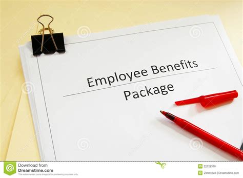 benefits package stock photo image 22129370