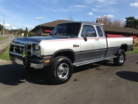 how to sell used cars 1993 dodge ram wagon b350 user handbook sell used 1993 rare dodge ram 250 le club cab cummings diese 4x4 low miles no reserve in