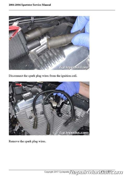 Harley Davidson Sportster Service Manual by Harley Davidson Xl883 Xl1200 Sportster 2004 2006