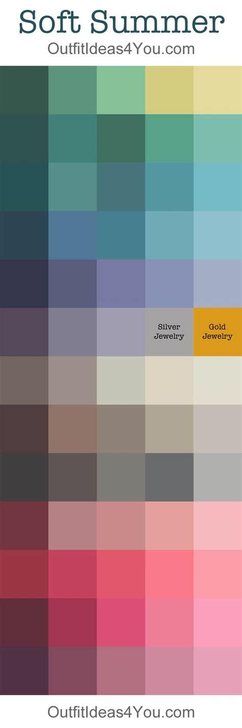 soft autumn palette soft autumn soft summer color palette outfitideas4u seasonal color