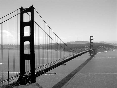 golden gate black golden gate bridge black white san francisco califor