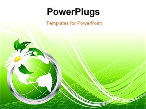 Ppt Themes On Environment | powerpoint template 3d graphics of a green globe with a