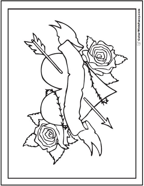 hearts and roses coloring pages color bros