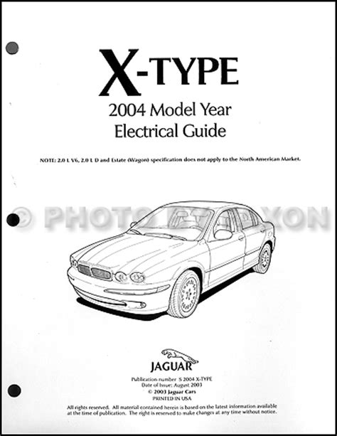 2004 jaguar x type electrical guide wiring diagram
