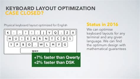 Keyboard Layout Optimization | can computers design presented at interaction16 march 2
