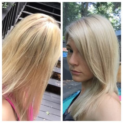 blonde toners left icky yellow orange blonde right fixed at gibson