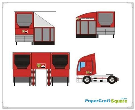 Today Papercraft by Paper Model Cars F1 Paddock Papercraft
