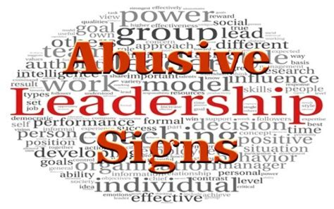 7 Signs Of Abuse by 7 Signs Of Abusive Leadership