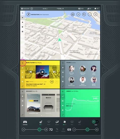 Tesla Ux Https Www Behance Net Gallery 23771657 Tesla Interface
