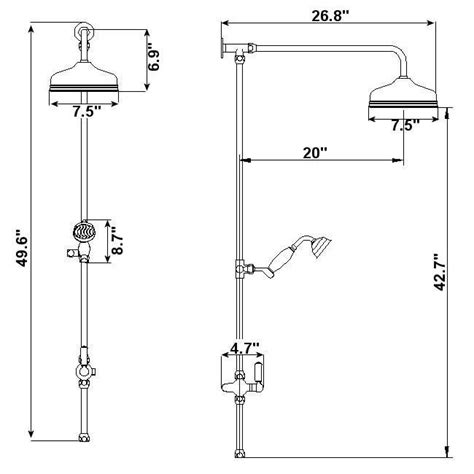 Shower In Height by Grand Rigid Riser Kit Shower With