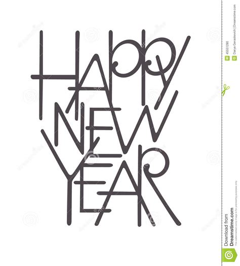 new year images black and white happy new year lettering stock vector image 45551280