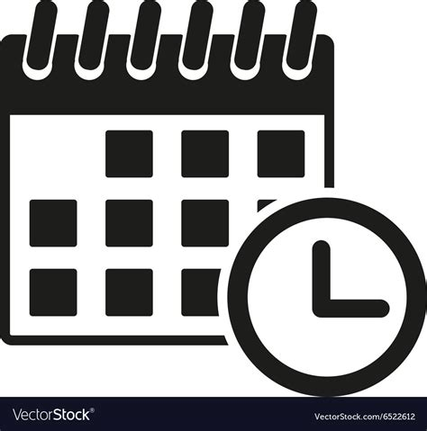 calendar icon reminder event time symbol vector image