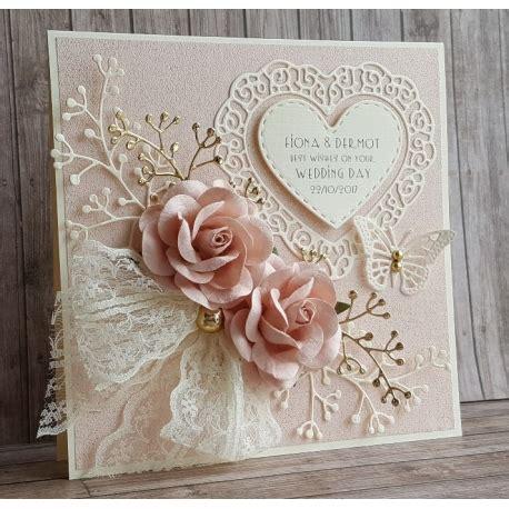 beautiful handmade wedding card