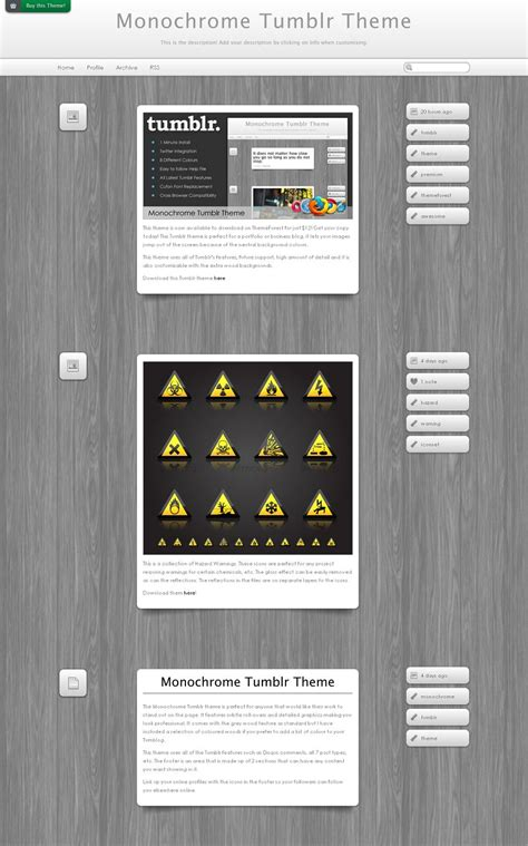 tumblr themes monochrome monochrome premium tumblr theme from theme forest