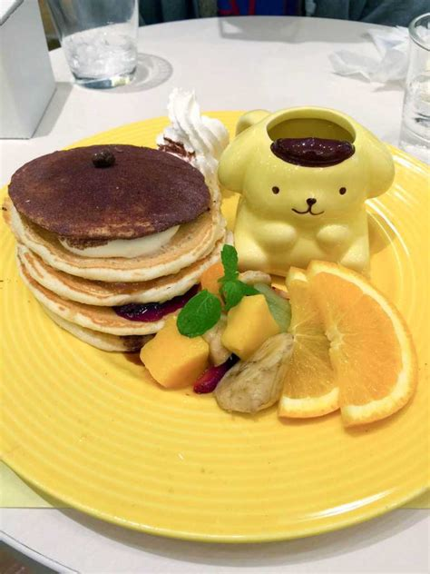 Pom Pom Purin Pancake pom pom purin cafe harajuku cutest cafe in tokyo mokolate
