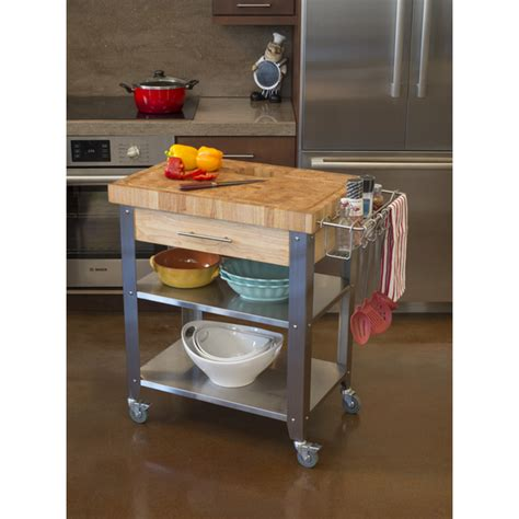 Chris And Chris Kitchen Cart by Chris Chris Pro Stadium Kitchen Cart With Butcher Block