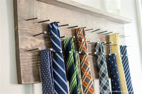 craftaholics anonymous 174 diy tie rack tutorial