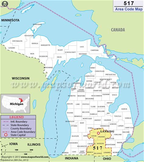 usa phone area codes map 517 area code map where is 517 area code in michigan