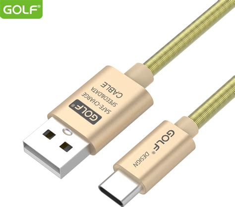 Golf Usb Cable Gc 40i 1m golf braided usb 2 0 cable usb c usb a μπεζ 1m