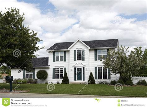 two story white two story home stock photos image 5339453