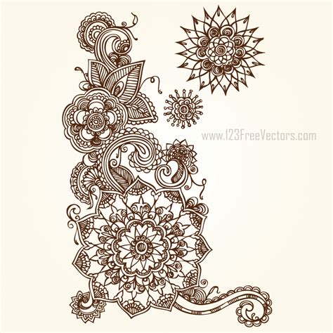 free design vector ai floral vector eps free download 123freevectors
