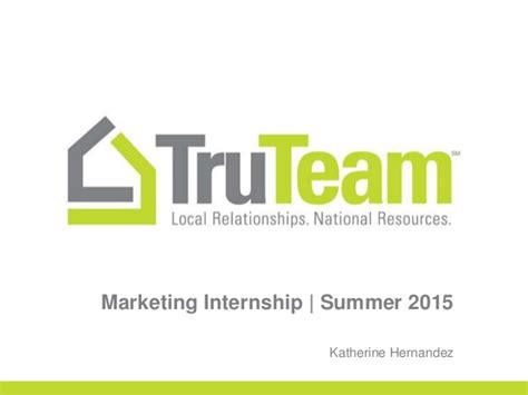 Mba Marketing Internships Summer 2015 by Truteam Presentation