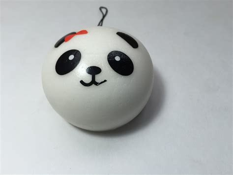 kawaii medium panda buns squishies