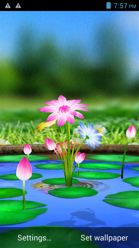 wallpaper 3d touch 3d flowers touch wallpaper android apps on google play