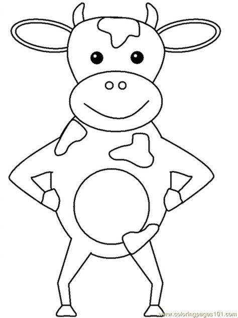 printable animal heads free coloring pages of cow head