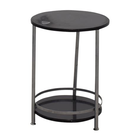 round black accent table 66 off round black and chrome end table tables