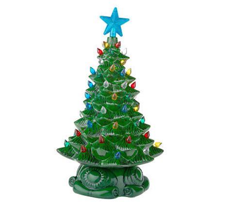 thomas pacconi porcelain light up christmas tree figurine