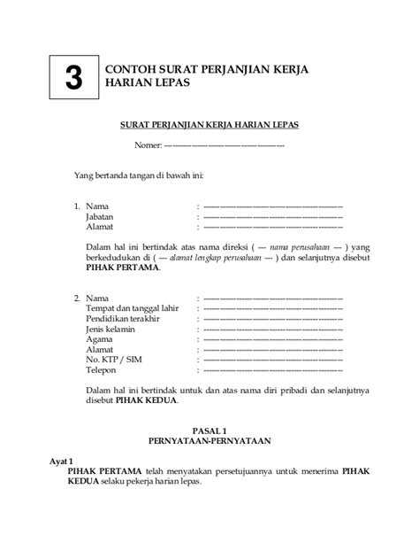 contoh surat perjanjian review ebooks