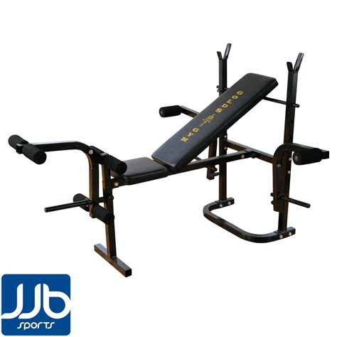 gym bench with weights golds gym multi purpose weight bench ebay