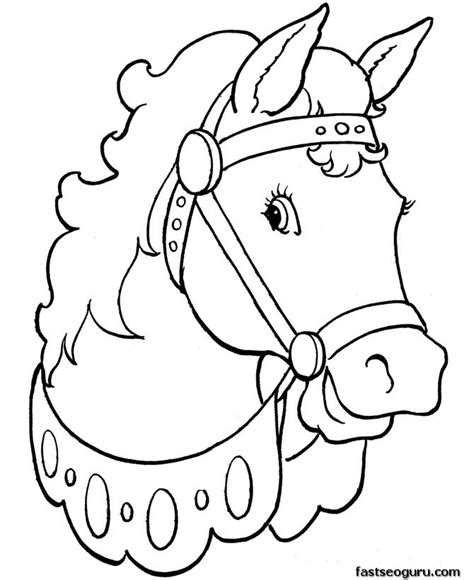 printable animal printable coloring pages animal beautiful horses