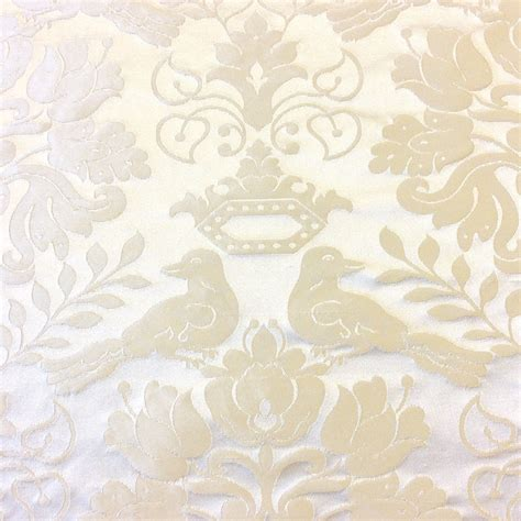 high end home decor nl264 scalamandre bird ivory silk damask floral high